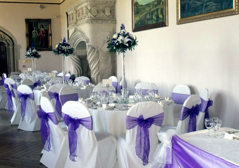 Chair decorations county durham wedding dj mobile disco chair covers at wedding reception junglespirit Gallery
